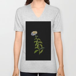 Aster Sibericus Mary Delany Floral Paper Collage Delicate Vintage Flowers Unisex V-Neck