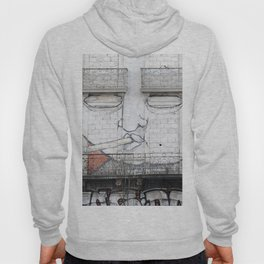 The facade's face, graffiti Hoody