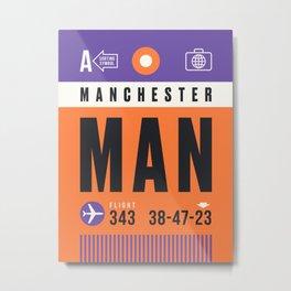 Luggage Tag A - MAN Manchester England UK Metal Print