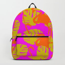 Flamingos and Monstera Pattern F Backpack