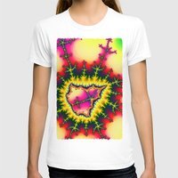 mineral T-shirts featuring Colourful Fractal Mineral by thea walstra