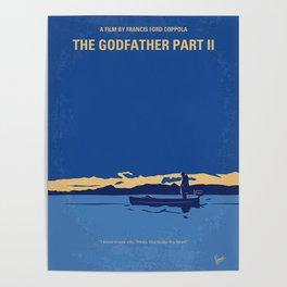 No686-2 My Godfather II minimal movie poster Poster