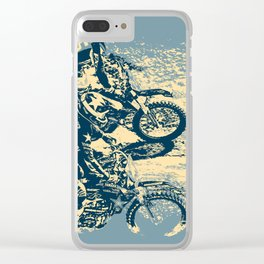 Dirt Track - Motocross Racing Clear iPhone Case