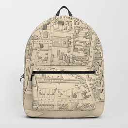 Vintage Map of Perth Scotland (1851) Backpack