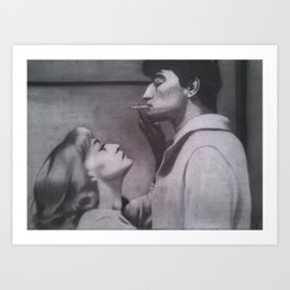 Catherine et Jim Art Print
