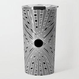 5 circles black background Travel Mug