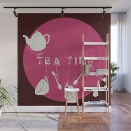 Pink Tea Time Wall Mural