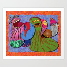 Singing Sea Cucumbers Art Print