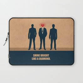 Lab No. 4 - Shine Bright Like A Diamond Corporate Startup Quotes Laptop Sleeve
