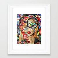 poker Framed Art Prints featuring Poker Face by Katy Hirschfeld
