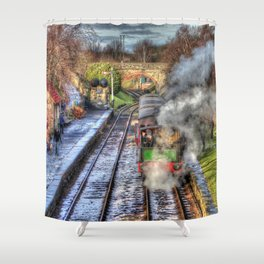 Tantobir Railway Shower Curtain