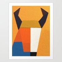 taurus Art Prints featuring Taurus by Fernando Vieira