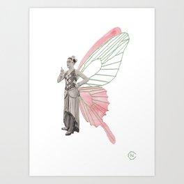Fab Butterfly Angel Art Print
