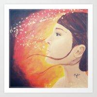 Golden Wind Art Print