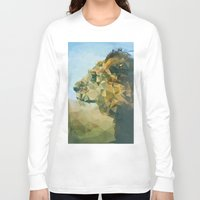 lion Long Sleeve T-shirts featuring Lion by Esco