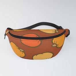 Pumpkin Pattern on Brown Fanny Pack