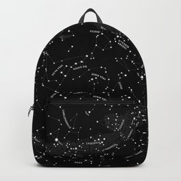 Constellation Map - Black & White Backpack