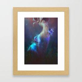Fighting fishes Framed Art Print