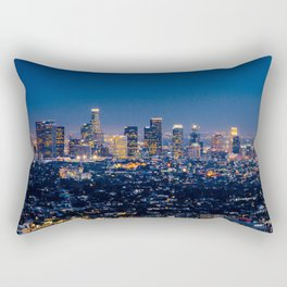 Los Angeles, California, I love LA Downtown Skyline, Golden lights, USA Sunset Blvd, Palms, Cali Map Rectangular Pillow