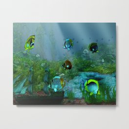 Fish Tank Aquarium Metal Print