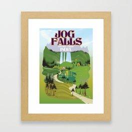 Jog Falls,Jog Falls,Sagara taluk of Karnataka Framed Art Print