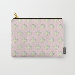 Memphis Pattern - Gemetrical Plus Retro Art in Pink and Yellow -  Mix & Match Carry-All Pouch