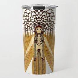 """Art Deco Oriental Design """"Café Foujita"""" Travel Mug"""