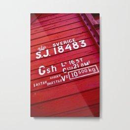 Sverige Metal Print