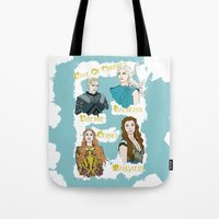 daenerys Tote Bags featuring Game Of Thrones  by JessicaJaneIllustration