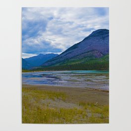 Morrow Peak & the Athabasca River in Jasper National Park, Canada Poster