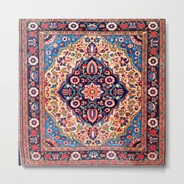 Kashan Central Persian Rug Print Metal Print