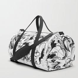 Division - b&w Duffle Bag