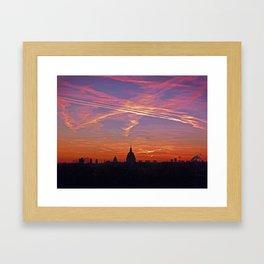 Hôtel des Invalides in Crazy Pink Sunrise Framed Art Print