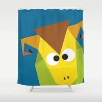 ram Shower Curtains featuring Ram by Fairytale ink