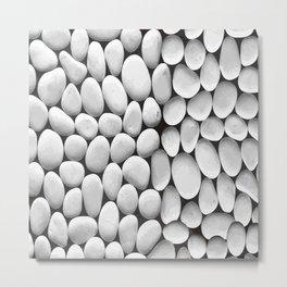 White Stones Background Vector Metal Print