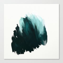 Our trip to the Oregon coast - an aqua blue abstract painting by JulesTillman Canvas Print