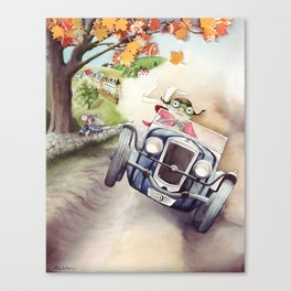 He was Toad once more - The Wind in the Willows - By Kenneth Grahame Canvas Print