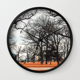 Park view at Belle isle in Detroit Wall Clock