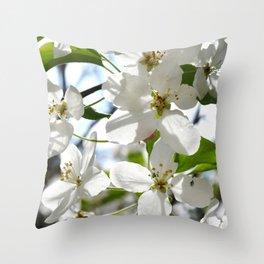 Crabapple Flowers 05 Throw Pillow