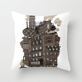 Flying city. Throw Pillow