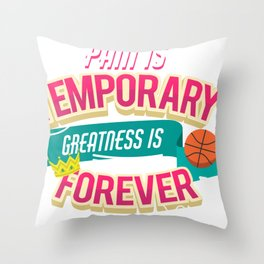 greatness is forever Throw Pillow