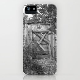 "Door to the deep down ""LIME"" iPhone Case"