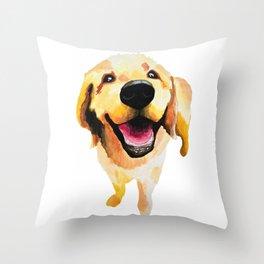 Good Boy / Yellow Labrador Retriever dog art Throw Pillow