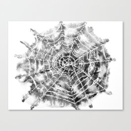 Watercolor Spider Web Halloween Art Canvas Print