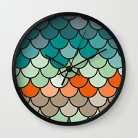 scales Wall Clocks featuring Scales by Pattern Design