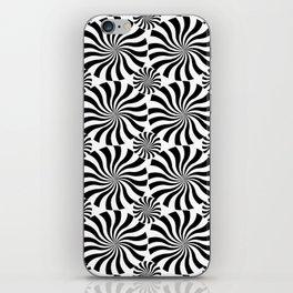 Black Twirl iPhone Skin