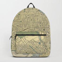 Vintage Map of Baltimore Maryland (1891) Backpack