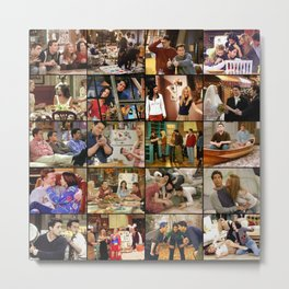 Friends Scene Collage Metal Print