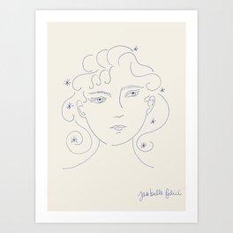 Head in the Stars Art Print