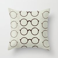 glasses Throw Pillows featuring (Glasses) by Mr and Mrs Quirynen